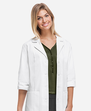 three quarter lab coats