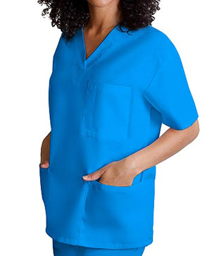 blue scrubs