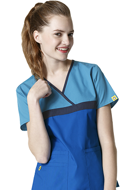mock wrap scrubs
