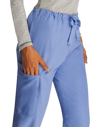 Adar Universal Unisex Natural-Rise Five Pocket Drawstring Tapered Leg Pants