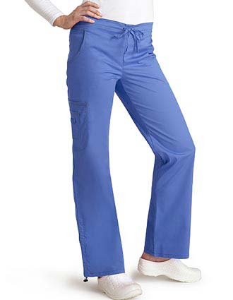 Adar Pop-Stretch Junior Fit Low Rise Boot Cut Bungee Leg Scrub Pant