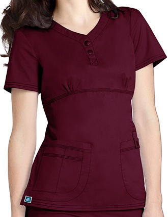 Adar Pop-Stretch Junior Fit Taskwear Empire Henley Scrub Top