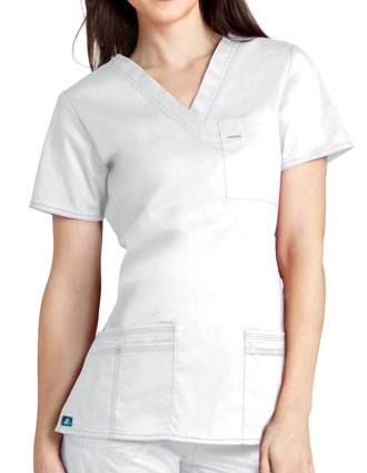Adar Women Junior Fit TaskWear V-Neck Scrub Top