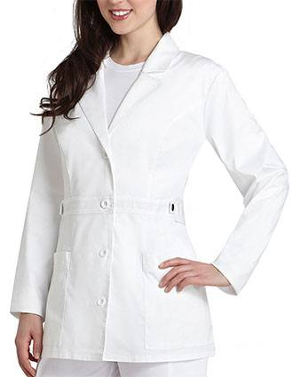 Adar Pop-Stretch Junior Fit Women's 28 Inches Tab-Waist Lab Coat