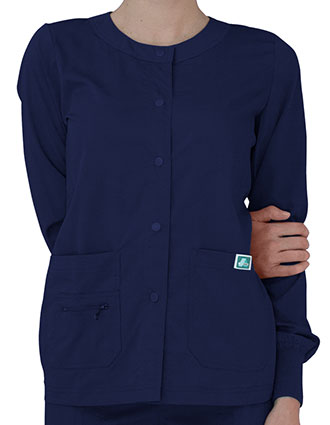 Adar Indulgence Women's Jr. Fit Multi Pocket Warm-Up Jacket