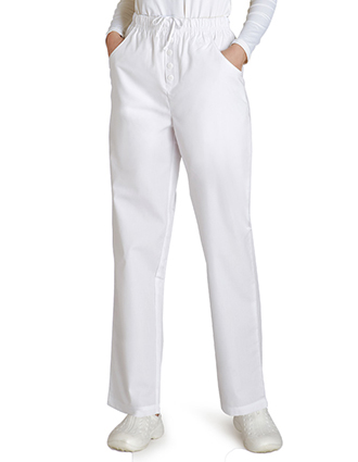 Adar Women Mock Fly Medical Scrub Pant