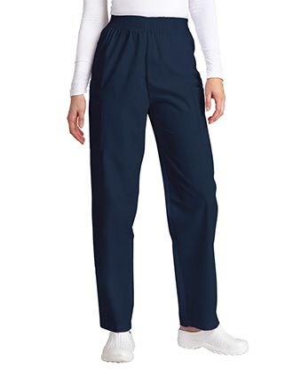 Adar Women Medical Four Pocket Petite Cargo Scrub Pants