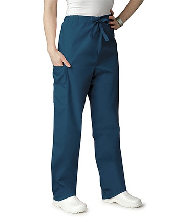 Adar Unisex Two Pocket Medium Rise Petite Scrub Pants