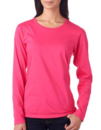 884L Anvil Ladies' Lightweight Long-Sleeve Cotton Tee