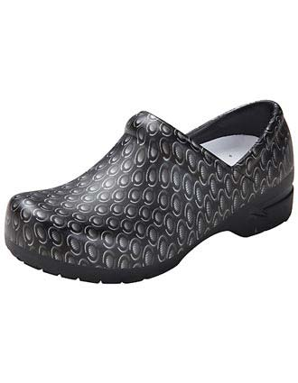 Anywear Women's Prisma Chrome Closed Back Plastic Clog Shoes