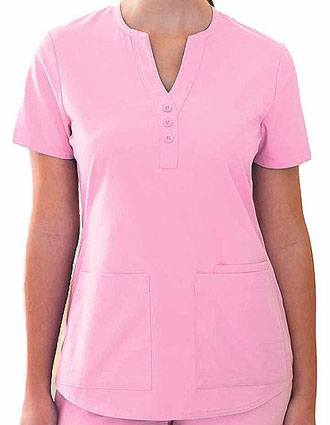 Barco ICU Junior Fit Mock Placket Y-Neck Scrub Top