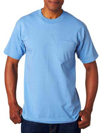 7100 Bayside Adult Short-Sleeve Tee with Pocket
