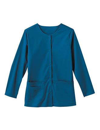 Bio Stretch Women's 3-Pockets Solid Warm-Up Jacket