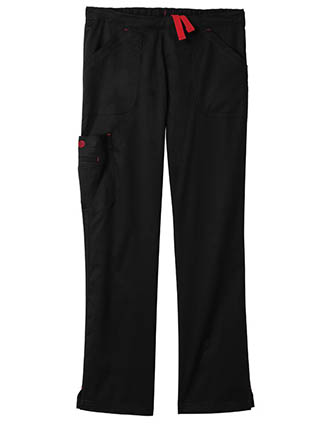 Bio Stretch Women'S Mega Pockets Cargo Petite Scrub Pants