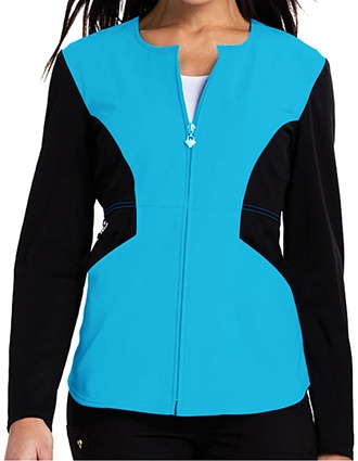 Careisma Fearless Women's Notched Crew Zip Front Jacket