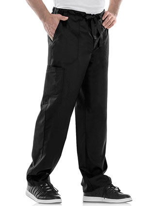 Cherokee Luxe Men's Fly Front Drawstring Scrub Pants