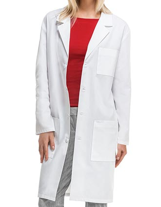 Cherokee's Professional Whites with Certainty Unisex 40 Inches Fluid Barrier Lab Coat