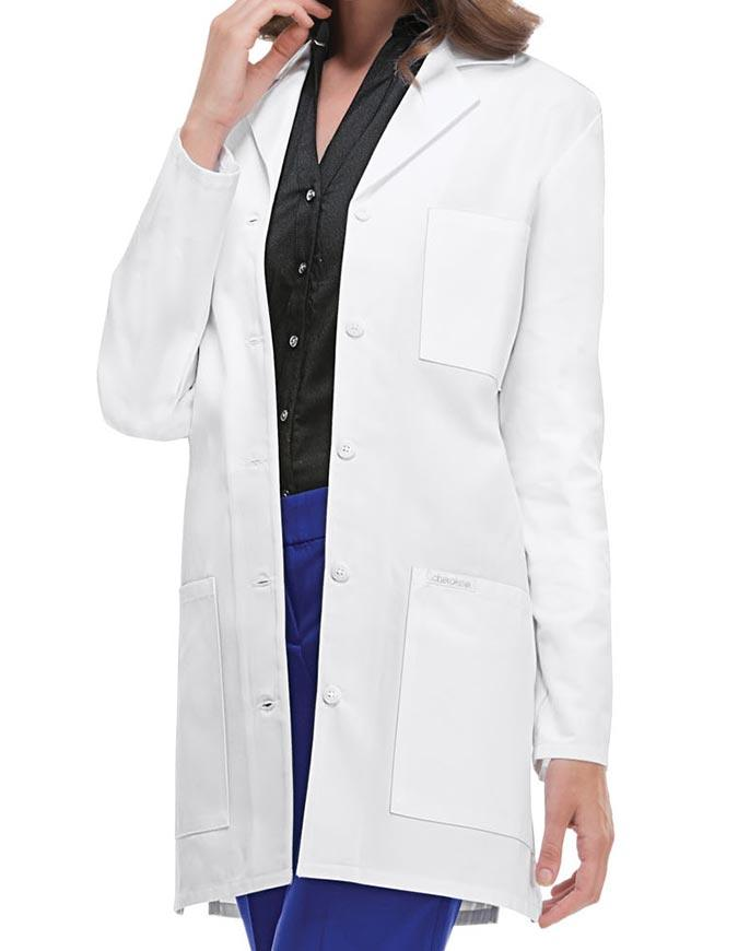 Cherokee's Professional Whites with Certainty Women's Antimicrobial w/Fluid Barrier Lab Coat