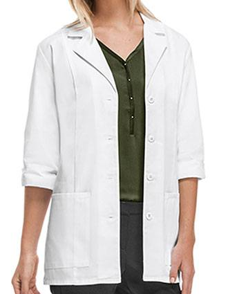 Cherokee's Professional Whites with Certainty Women's 30 Inches Fluid Barrier 3/4 Sleeve Lab Coat