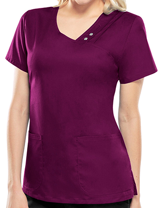 Cherokee Luxe Women's V-Neck Nursing Scrub Top