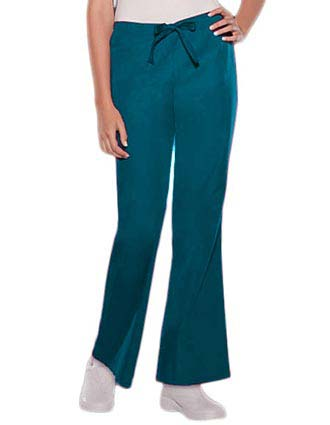 Cherokee Womens Two Pocket Drawstring Medical Scrub Pants