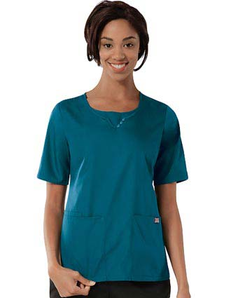 Cherokee Workwear Womens Scoop Neck Scrub Top