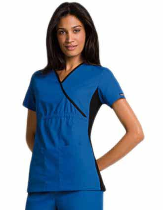 Clearance Sale! Women Flexibles Chocolate Mock Wrap Top by Cherokee