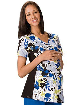 Clearance Sale! Cherokee Maternity Wrap Top in Garden Botanica