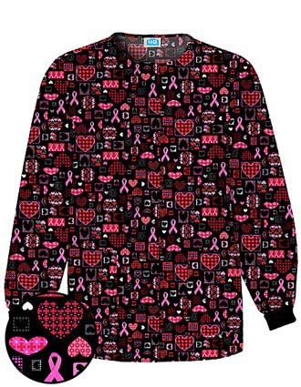 Clearance Sale! HQ Womens Caring For The Cause Scrub Jacket
