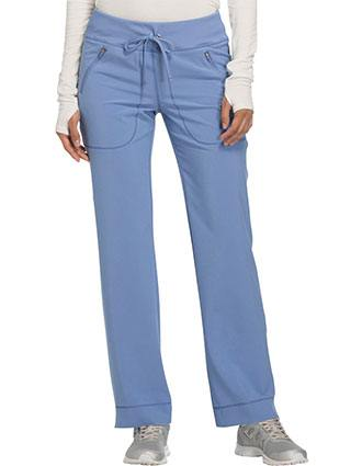 Cherokee Infinity Women's Mid Rise Tapered Leg Drawstring Pant