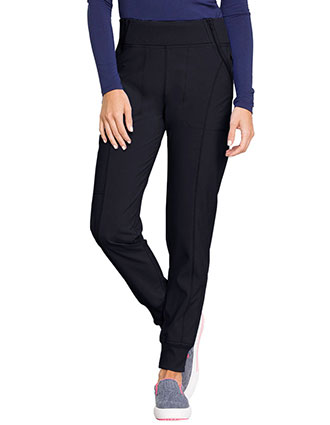 Cherokee Infinity Women's Knit Waistband Mid Rise Tapered Leg Jogger Pant