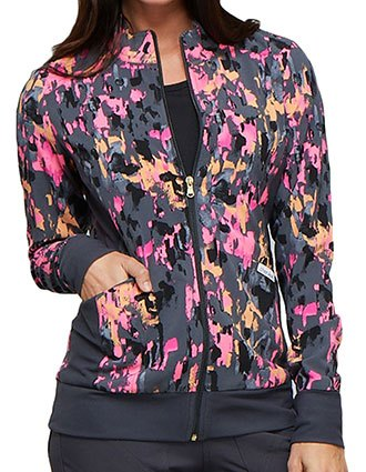 Cherokee Women's Easy Streak Printed Jacket