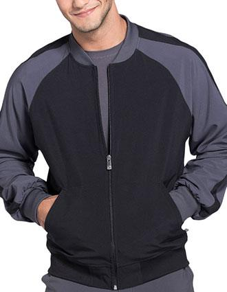 Cherokee Infinity Men's Colorblock Zip Up Warm-Up Jacket