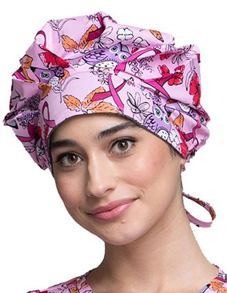 Cherokee Scrub Hats Unisex Owl About The Love Unisex Bouffant Scrub Hat