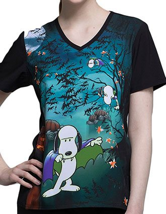 Tooniforms Halloween Women's Count Snoopula V-Neck Top