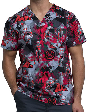 Tooniforms Men's Ant-Man Printed V-neck Top