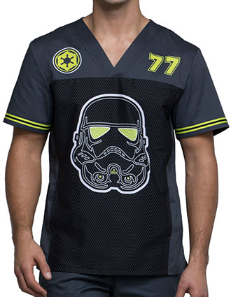 Tooniforms Men's Trooper 77 Printed V-Neck Top