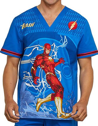 Tooniforms Men's The Flash Printed V-Neck Top