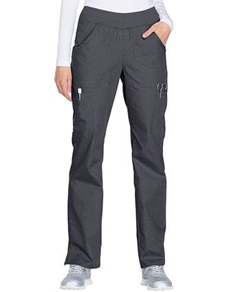Cherokee Workwear Women's Mid Rise Straight Leg Pull-on Cargo Tall Pant