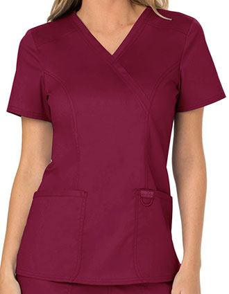 Cherokee Workwear Revolution Womens Mock Wrap Top