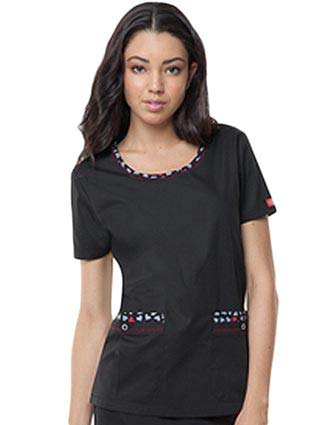 Dickies Love Your Color Junior Round Neck Scrub Top