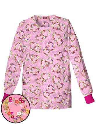 Dickies EDS Missy Fit Rounded Neck Hearts Garden Scrub Jackets