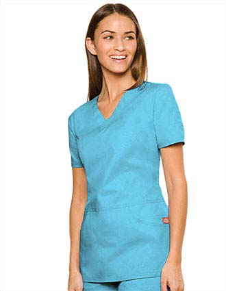 Dickies Enzyme Missy Fit Dropped Waist V-Neck Nurse Scrub Top