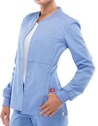 Dickies EDS Signature Stretch Women's Jr. Fit Snap Front Warm up Jacket