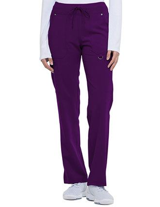 Dickies Xtreme Stretch Women's Mid Rise Rib Knit Waistband Tall Pant