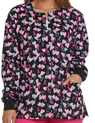 Dickies Women's Hope In My Heart Printed Warm-Up Jacket