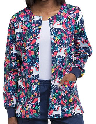 Dickies EDS Women's Have A Magical Day Snap Front Warm-Up Jacket