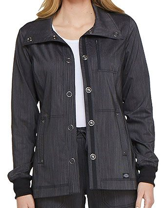 Dickies Women's Snap Front Warm-up Jacket