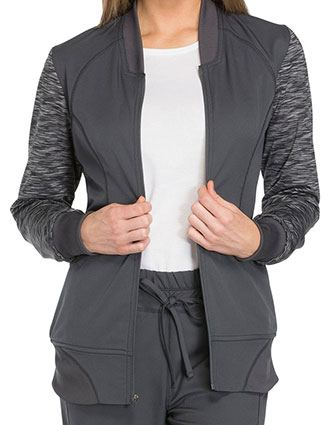 Dickies Dynamix Women's Zip Front Fashion Warm-up Jacket