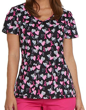 Dickies EDS Women's Hope In My Heart Printed V-Neck Top